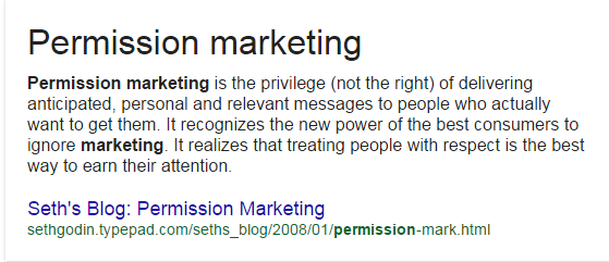 Permission Marketing Seth Godin